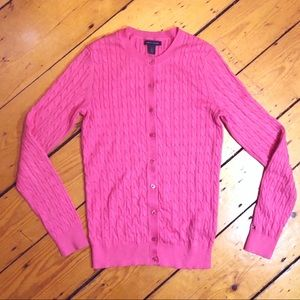 NWOT Tommy Hilfiger cotton cable knit cardigan S